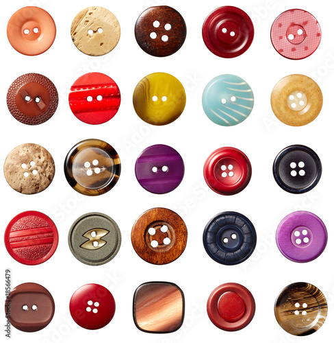 Leinwanddruck Bild sewing button clothing