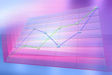 positive business trend chart poster
