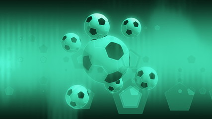 Soccer One Color Abstract Loop