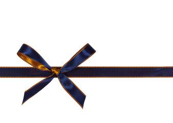 Blaue Schleife, freigestellt auf Weiss
