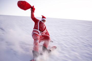 Santa Claus macht Extremsport!