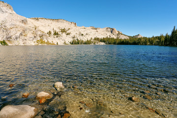 High-mountainous May lake
