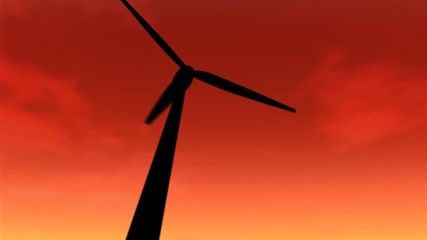Wind Turbines Loop at Sunset