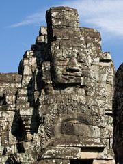 the face from the temple