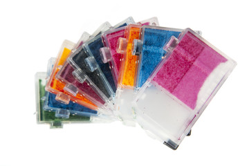 Colorful Empty Inkjet Printer Ink Cartridges