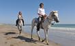 père et fille à cheval
