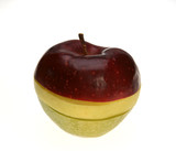Three-coloured apple