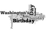 president day word collage on white background poster
