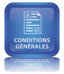 """Bouton """" Conditions Générales """" (carré - vecteur - reflet)"""