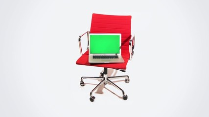 laptop mit office chair