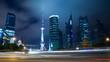 Quadro night view of shanghai