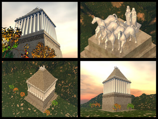 Mausoleum of Maussollos at Halicarnassus. 3D reconstructions