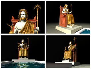Statue of Zeus at Olympia. 3D reconstructions