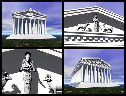 Temple of Artemis at Ephesus. 3D reconstructions