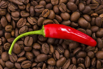 hot coffee with chili