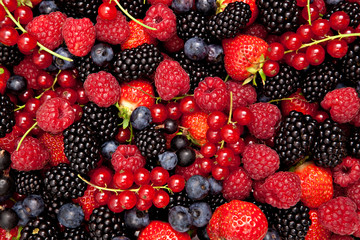variety of fresh berries