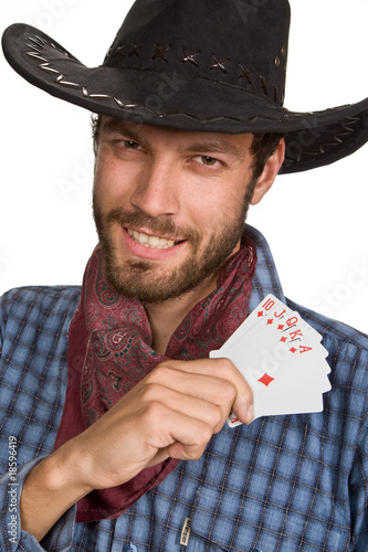 Young man with playing-cards.