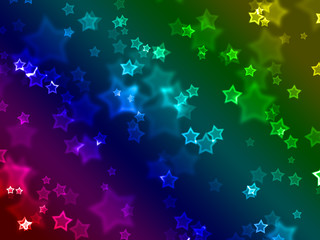 wallpaper made of star shapes and blurs