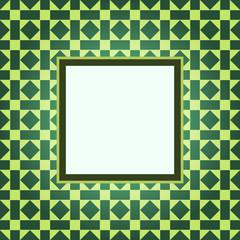 Design green pattern frame