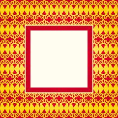 Design gold pattern frame