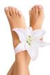 Healthy and elegant female feet