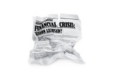 Crumpled newapaper with article about financial breakdown