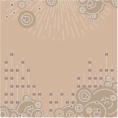 A beige spiral background. Vector