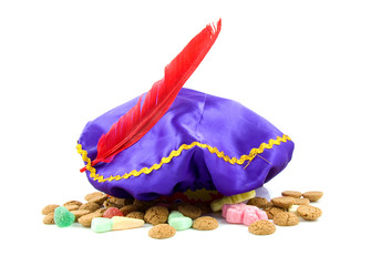 purple hat of Zwarte Piet and ginger nuts
