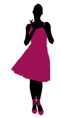 Female Ballerina Silhouette