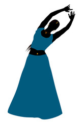 Female Belly Dancer Silhouette