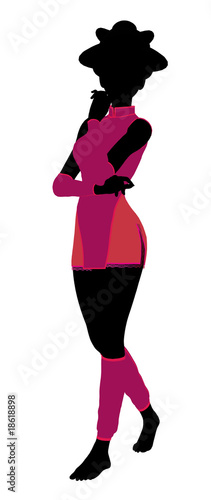 Geisha Girl Illustration Silhouette