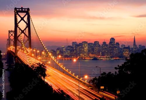 Poster San Francisco Sunset
