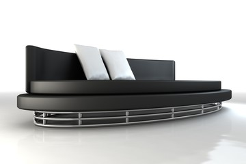 sofa coach garnitur möbel 3d