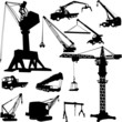 construction crane collection - vector
