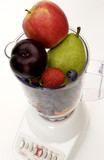 Fruit in blender
