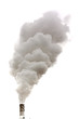 canvas print picture - Dirty smoke isolated
