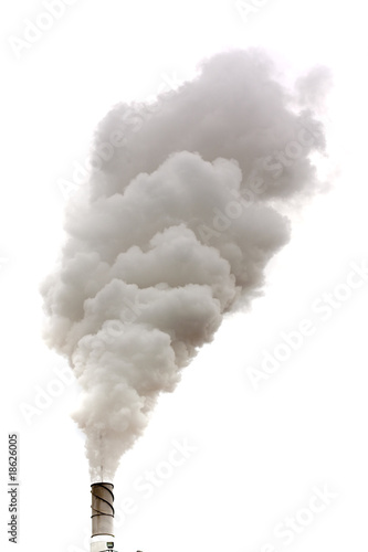 canvas print picture Dirty smoke isolated