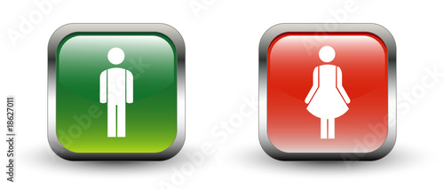 Male & Female Sign Icons