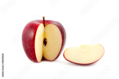 apple red isolated on white