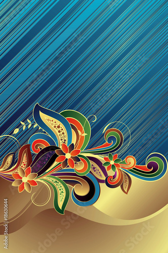 Abstract Floral Twill Background
