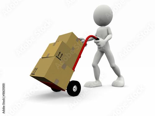 Carrello trasporto pacchi