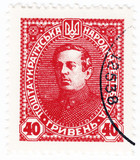 UKRAINE - CIRCA 1920 : portrait of Simon Petlura - Ukraine polit poster