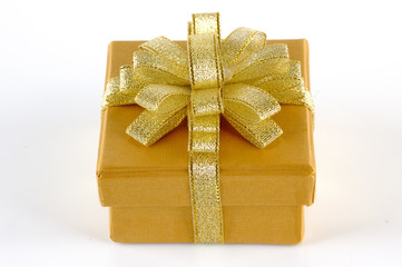 Gold Chrismas Gift Box