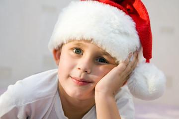 Pensive Young Santa