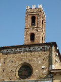 Lucca - View on the romanesque San Giovanni church. Tuscany poster