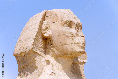 Head of Great Sphinx Giza in 2009