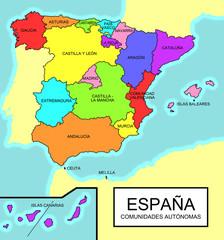 España - Comunidades autónomas