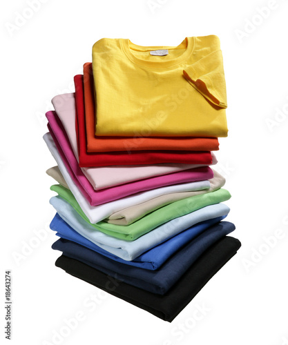canvas print picture Colours of Shirts