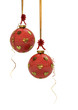 Christmas baubles with hearts