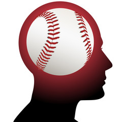 Man with Baseball Sports on the Brain